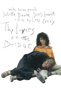 "Poster for the movie ""The Lovers on the Bridge"""